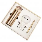 商务保温杯+大白音响+签字笔三件套礼盒装 公司纪念品