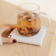 USB暖暖杯垫55°度 桌面发热暖暖杯垫 恒温定时保温杯垫 员工礼品发什么好