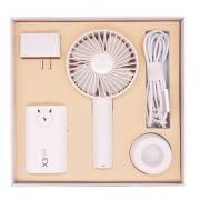 手持风扇+充电宝+适配器+数据线四件套礼盒装 比较实用的小礼品