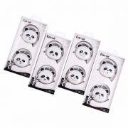 创意卡通熊猫耳挂式带唛耳机 展会送什么小礼品