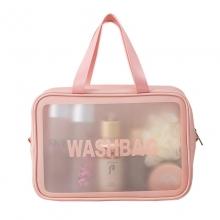 便携旅行透明洗漱包 大容量防水磨砂收纳袋 工会活动小礼品
