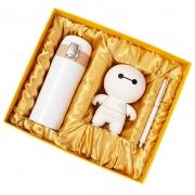商务保温杯+大白音响+签字笔三件套礼盒装 给领导送什么礼品好