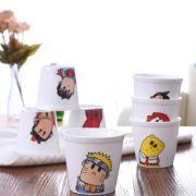 【简生活】歪脖子图案系列圆形陶瓷杯120ml  实用小礼品