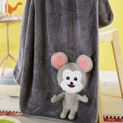 【SQ】梦洁家纺 双面法兰绒毯 鼠来宝