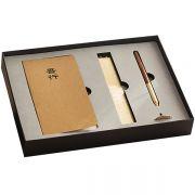 吾行 红木笔+两本随心本+有度铜尺商务四件套 商务会议礼品