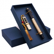 商务U盘16G+青铜笔两件套礼盒装 适合年会的小礼品