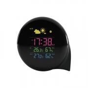 动态彩色天气预报时钟 室内外温湿度显示闹钟 活动礼品送什么好