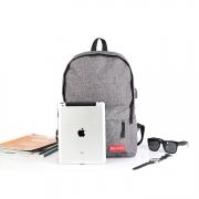 商务休闲USB充电双肩背包 展会用小礼品