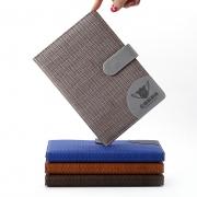 创意商务办公笔记本 加厚皮面带扣多色记事本 公司小礼品推荐