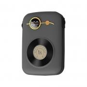 充电宝超薄小巧一万毫安复古自带线移动电源 送客户实用小礼品