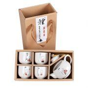 【京剧茶具】创意彩绘白瓷茶具套装(一壶四杯)精美小礼品