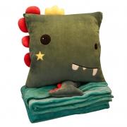 靠背垫靠枕毛毯被子三合一抱枕被 午睡毯子午休枕头办公靠垫