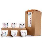 【京剧品茗杯】创意彩绘白瓷茶具套装(6杯装)精美小礼品