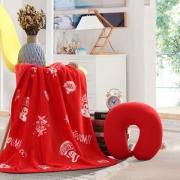【大嘴猴】Paul Frank 满堂红U型枕毯套装 公司纪念礼品