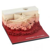 北京长城艺术便签 中国风立体景观便签本 创意3D模型便签 北京特色礼品