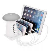 多口USB蘑菇灯5USB充电器 精致创意小礼品