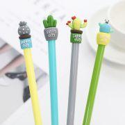 创意仙人掌盆栽造型中性笔 0.5mm卡通签字笔 价格便宜的小礼品