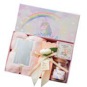 欧式创意伴手礼 毛巾+手工皂+玫瑰花 同学聚会纪念品