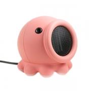 桌面精灵章鱼暖风机 可爱创意迷你便携家用小型取暖器 冬天小礼品 冬季温馨礼品