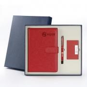 笔记本+笔+名片夹商务三件套 公司年会实用送客户礼物