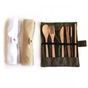 【日式餐具】创意环保便携竹子餐具六件套 展会小礼品