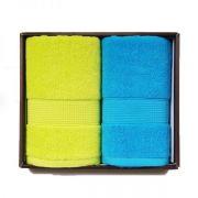 【洁丽雅】溢彩-2素色毛巾柔软强吸水 面巾2条装 什么礼品好