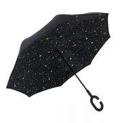 满天星反向伞 创意第三代c型手柄双层免持式反向伞 公司活动纪念品
