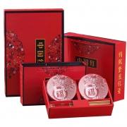 【中国红】日式陶瓷餐具青花碗筷套装 春节礼品送什么好
