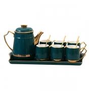 欧式创意 陶瓷咖啡杯套装 杯子水壶勺子盘子 高端活动礼品推荐