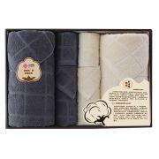 【洁丽雅】浴巾方巾面巾六件套套装 全棉优品-8 实用的小礼品