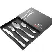 便携式不锈钢餐具礼盒套装 西餐餐具4件套 庆典礼品定制