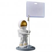 创意太空插旗宇航员桌面摆件 收银台实用装饰摆设 店铺开业礼品