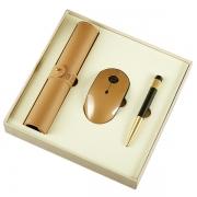 【鼠你好看】鼠标垫+鼠标+签字笔商务三件套 公司纪念礼品
