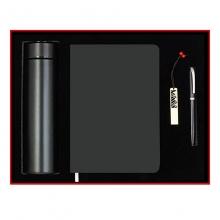 商务雅致四件套礼盒装 保温杯+笔记本+签字笔+U盘 周年庆礼品定制