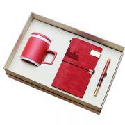匠心商务礼盒三件套 粗陶杯+笔记本+红木笔  送客户礼品推荐