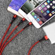 超级快充5A三合一充电线 多功能一拖三数据线 便宜实用的小礼品