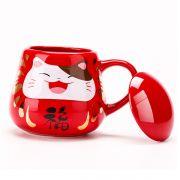 招财猫达摩款感温变色陶瓷杯 活动礼品送什么