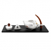 珍藏创意茶盅小趣之银茶滤 粽子银茶滤 端午节礼品推荐