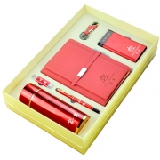 保温杯+笔记本+签字笔+U盘+钥匙扣+移动电源套装 优秀员工奖品