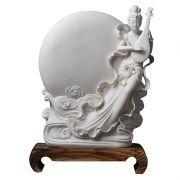 【秋月妙音】仙女祥云新中式陶瓷桌面摆件 中国风中秋节礼品