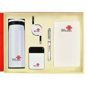 保温杯+数据线+移动电源+签字笔+笔记本五件套礼盒装 过年员工礼品