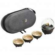 貔貅 便携收纳粗陶茶具功夫套装 高档创意旅行茶具