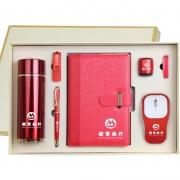 商务典藏七件套(保温杯+笔记本+签字笔+U盘+鼠标+蓝牙耳机+蓝牙音响)送客户领导礼品