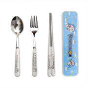 卡通不锈钢筷子勺子餐具套装 个性小礼品定制