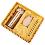 商务保温杯+暖手充电宝+钢笔三件套套装 高大上活动奖品买什么好