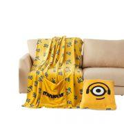 神偷奶爸小黄人多用抱枕绒毯 办公午休抱枕毯子 员工活动有哪些小礼品