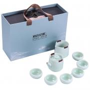 便携哥窑泡茶八件套茶具套装 公司送客户的小礼品