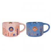 【大嘴猴】Paul Frank 粉蓝情侣水杯咖啡杯两件套 纪念品创意
