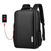 大容量休闲充电防盗电脑双肩包 背带反光条设计