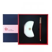 【和系列】商务创意礼品套装 名片座+红木笔礼盒 公司周年庆赠送什么礼物
